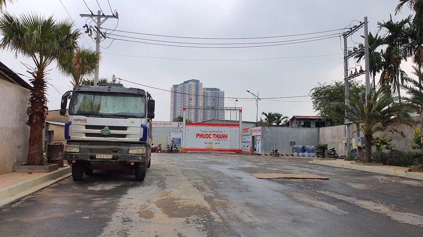 Đường vào dự án D'lusso, nhà thầu Phước Thành xây dựng