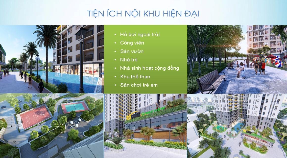 Tiện ích nội khu đẳng cấp của dự án căn hộ Bcons Green View so với giá bán