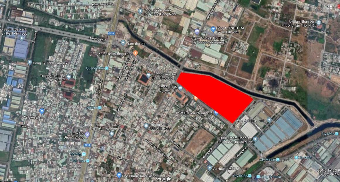 Vị trí dự án Milky Way Bình Tân trên google