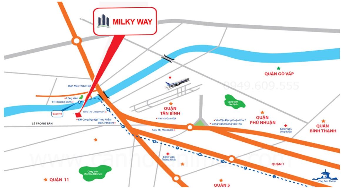 Vị trí dự án Milky Way Bình Tân