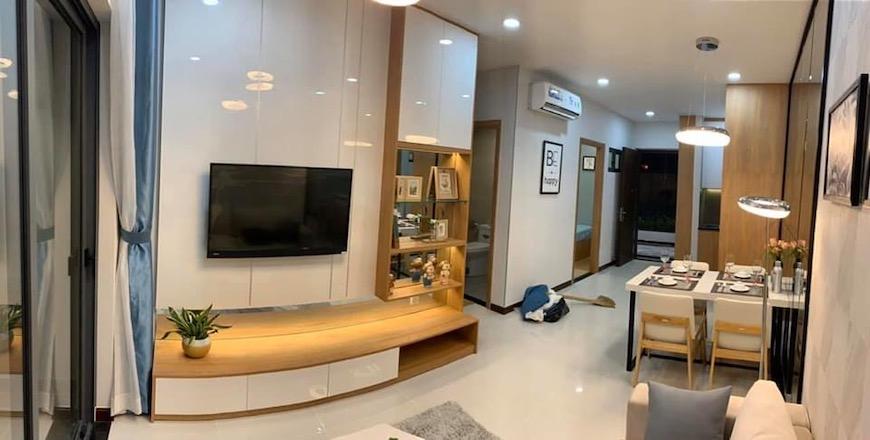 Hình ảnh nhà mẫu căn hộ Bcons Green View Bình Dương diện tích 51 m2