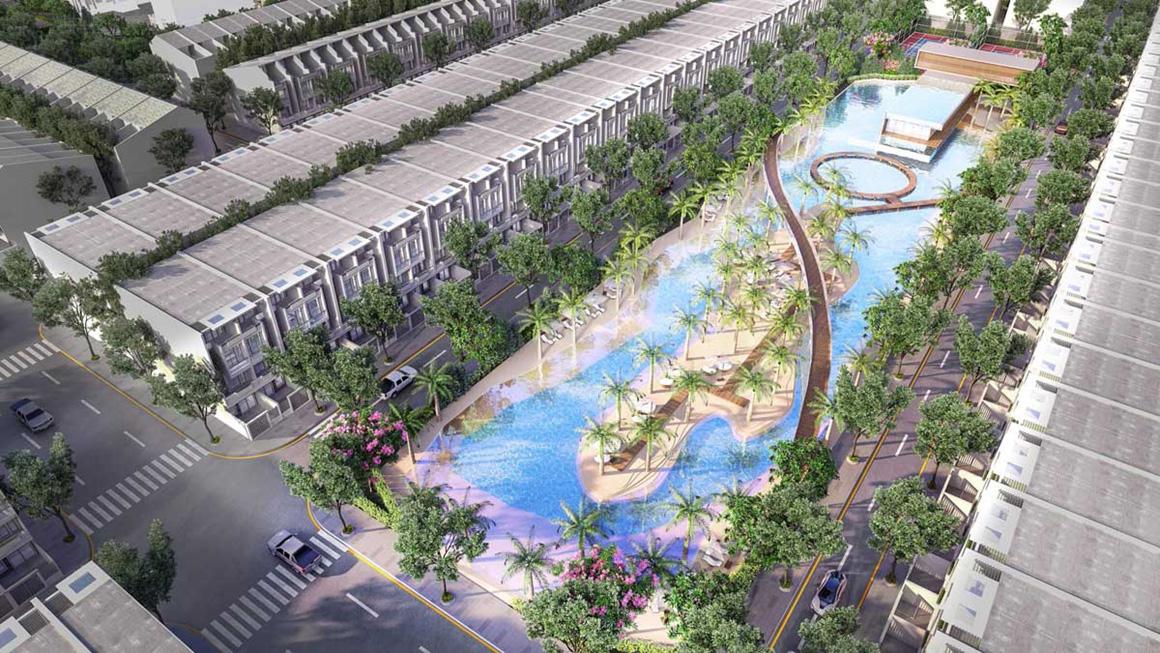 Hồ cảnh quan dự án Gem Skyworld Long Thành Đồng Nai