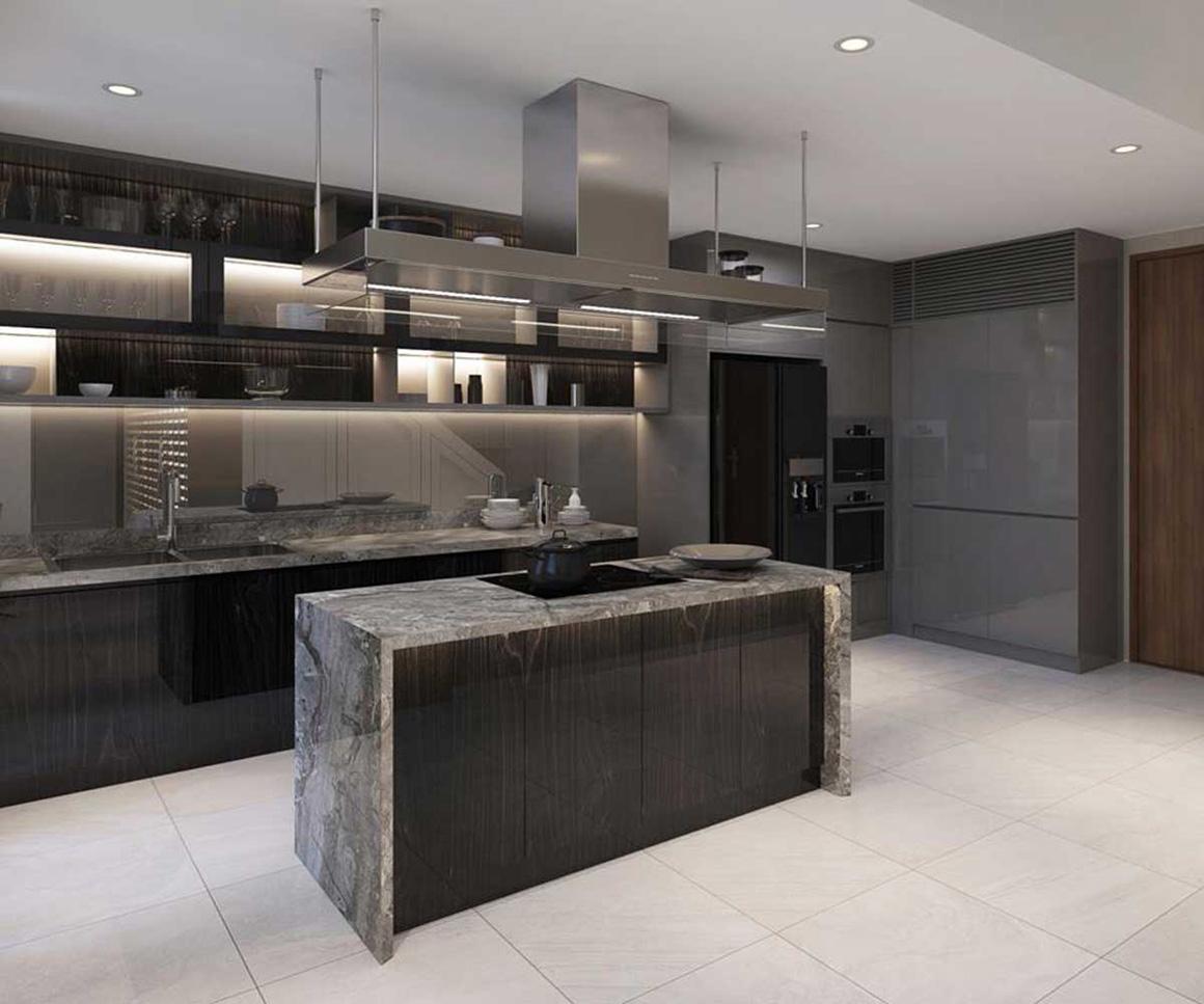 Khu bếp căn hộ Celesta Rise Nhà Bè
