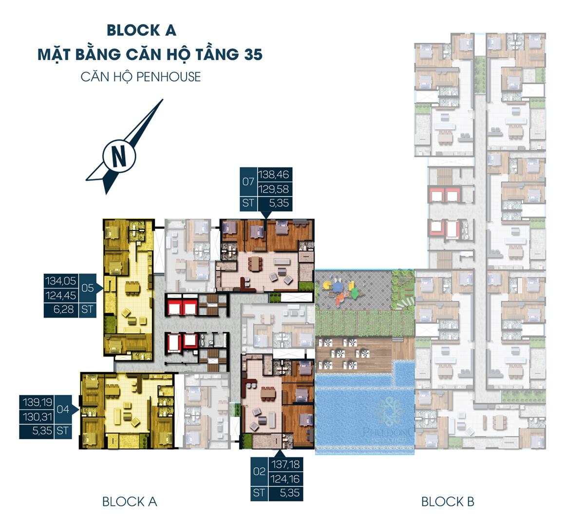 MB Block A Tầng 35 dự án Phú Đông Premier Penhouse