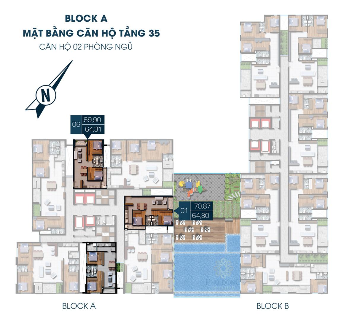 MB Block A Tầng 35 dự án Phú Đông Premier