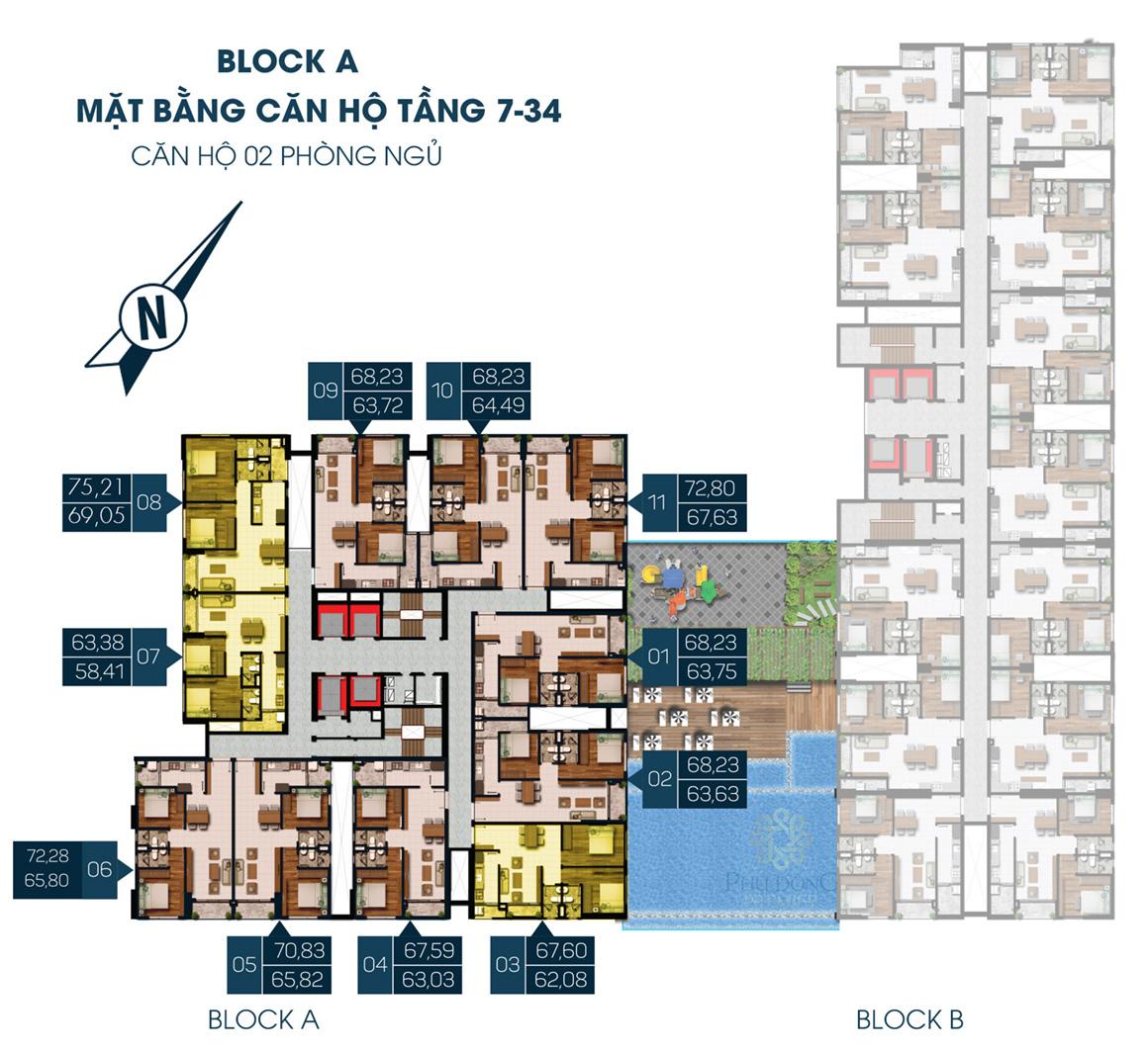 MB Block A Tầng 7 - 34 dự án Phú Đông Premier