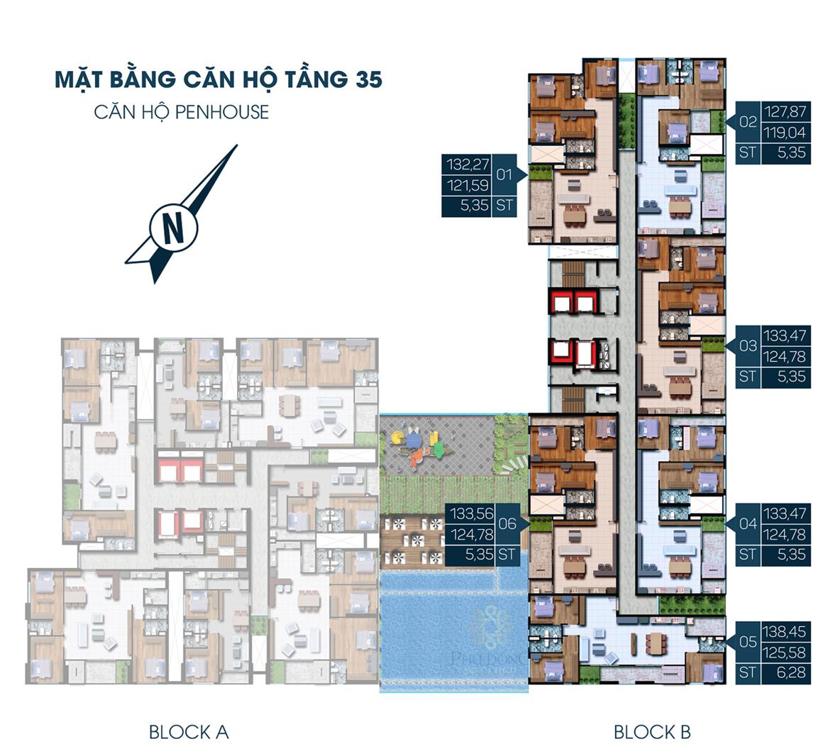 MB Block B Tầng 35 dự án Phú Đông Premier Penhouse