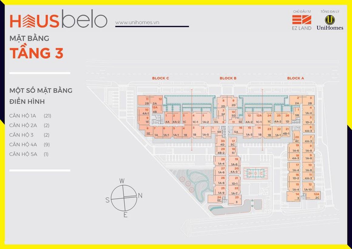 MBT 3 dự án Hausbelo quận 9