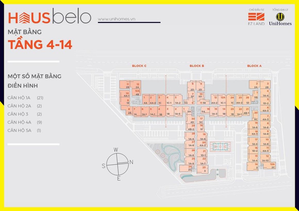 MBT 4 - 14 dự án Hausbelo quận 9