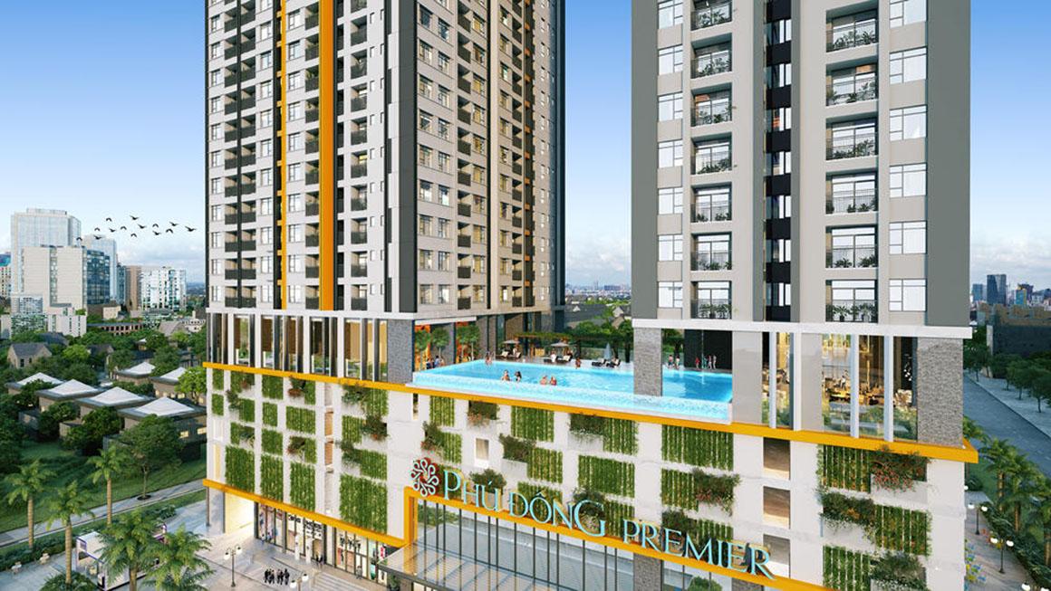 Phối cảnh căn hộ dự án Phú Đông Premier 1