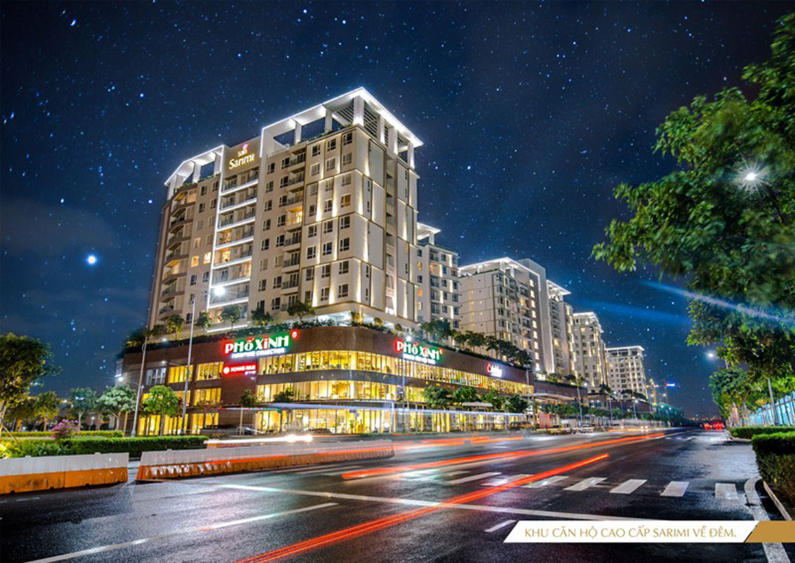 Phối cảnh khu căn hộ cao cấp Dự án SARIMI SALA về đêm