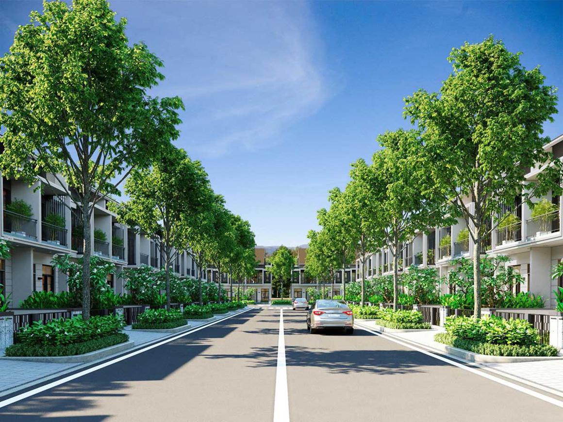 Phối cảnh nhà phố liền kề dự án Gem Skyworld Long Thành Đồng Nai