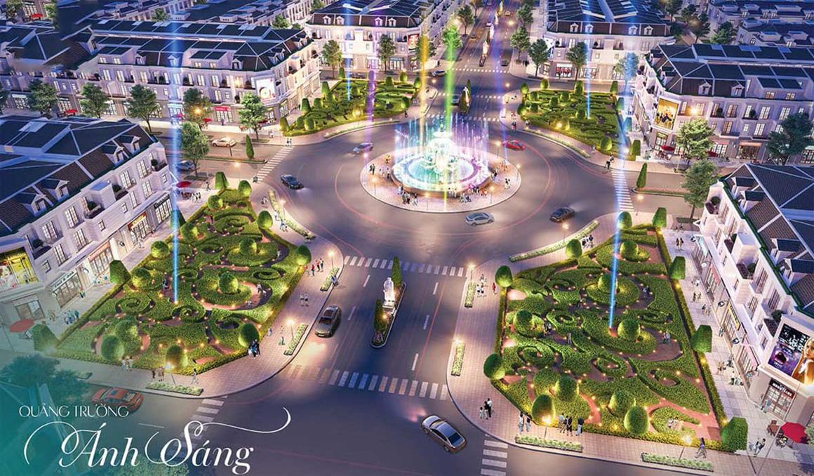 Quảng trường ánh sáng dự án Gem Skyworld Long Thành Đồng Nai