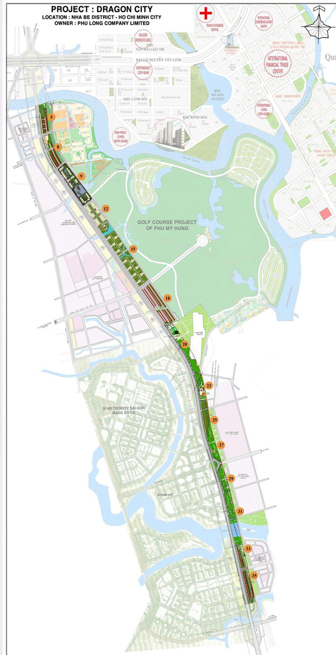 Quy hoạch dự án Celesta Rise Keppel Land Nhà Bè