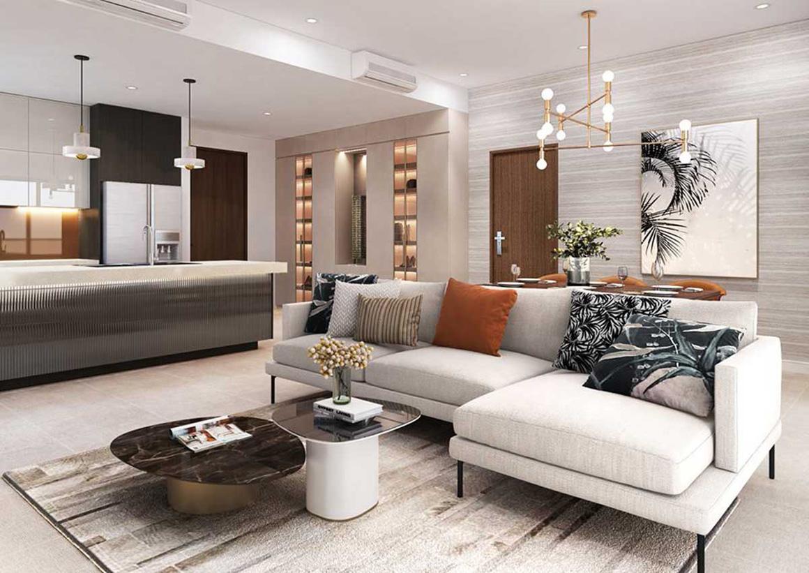 Sofa Phòng khách căn hộ Celesta Rise Nhà Bè