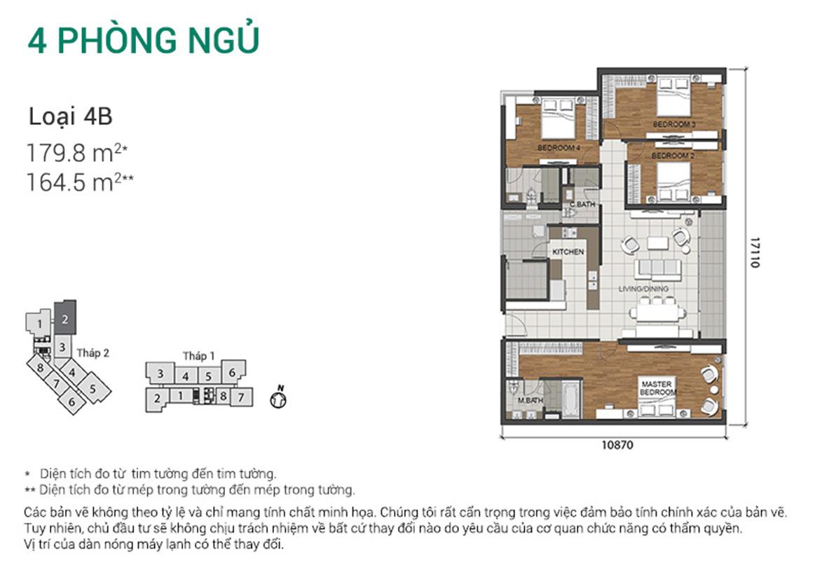 Thiết kế căn 4PN - dự án Estella Height