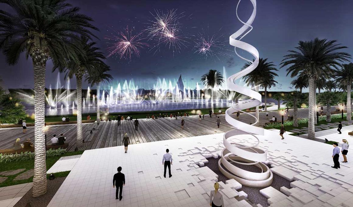 Tiện ích đài phun nước dự án Gem Skyworld Long Thành Đồng Nai