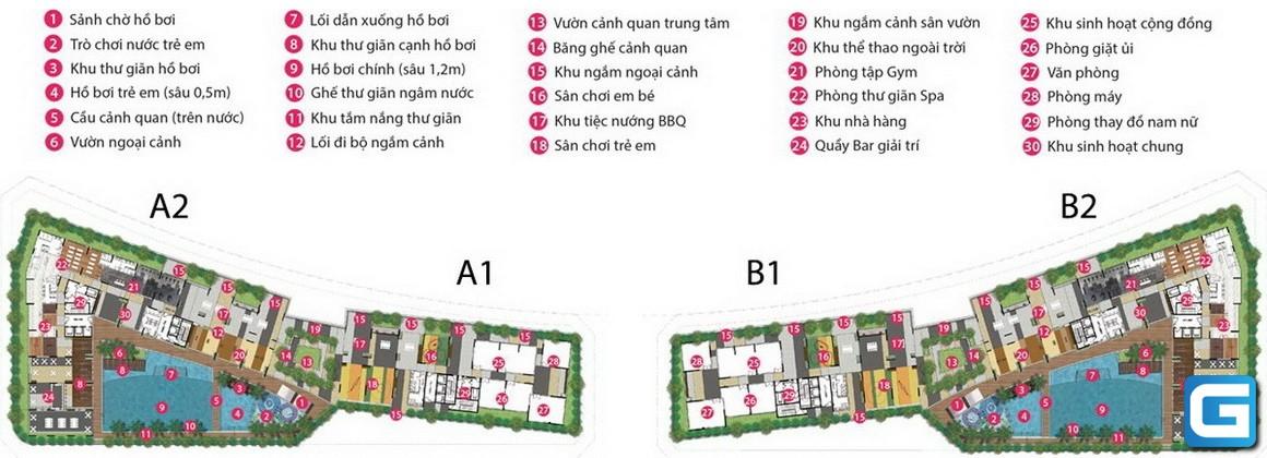 Tiện ích khu căn hộ dự án SARIMI SALA