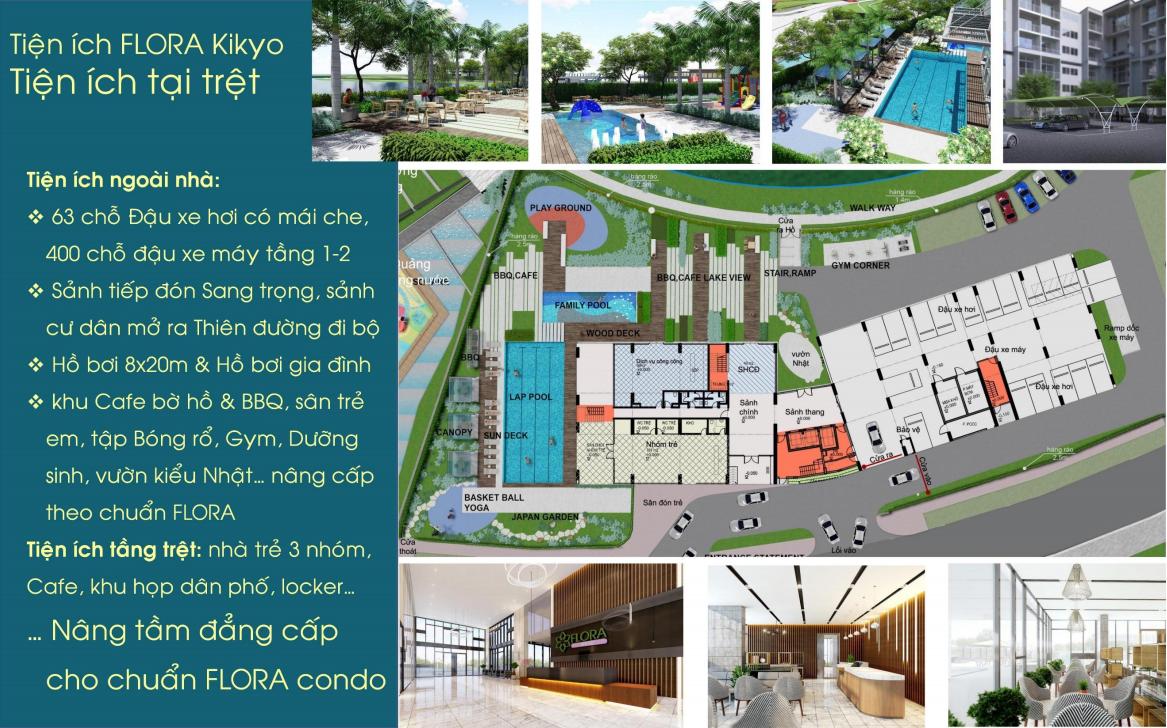 Tiện ích nội khu dự án Flora Kikyo