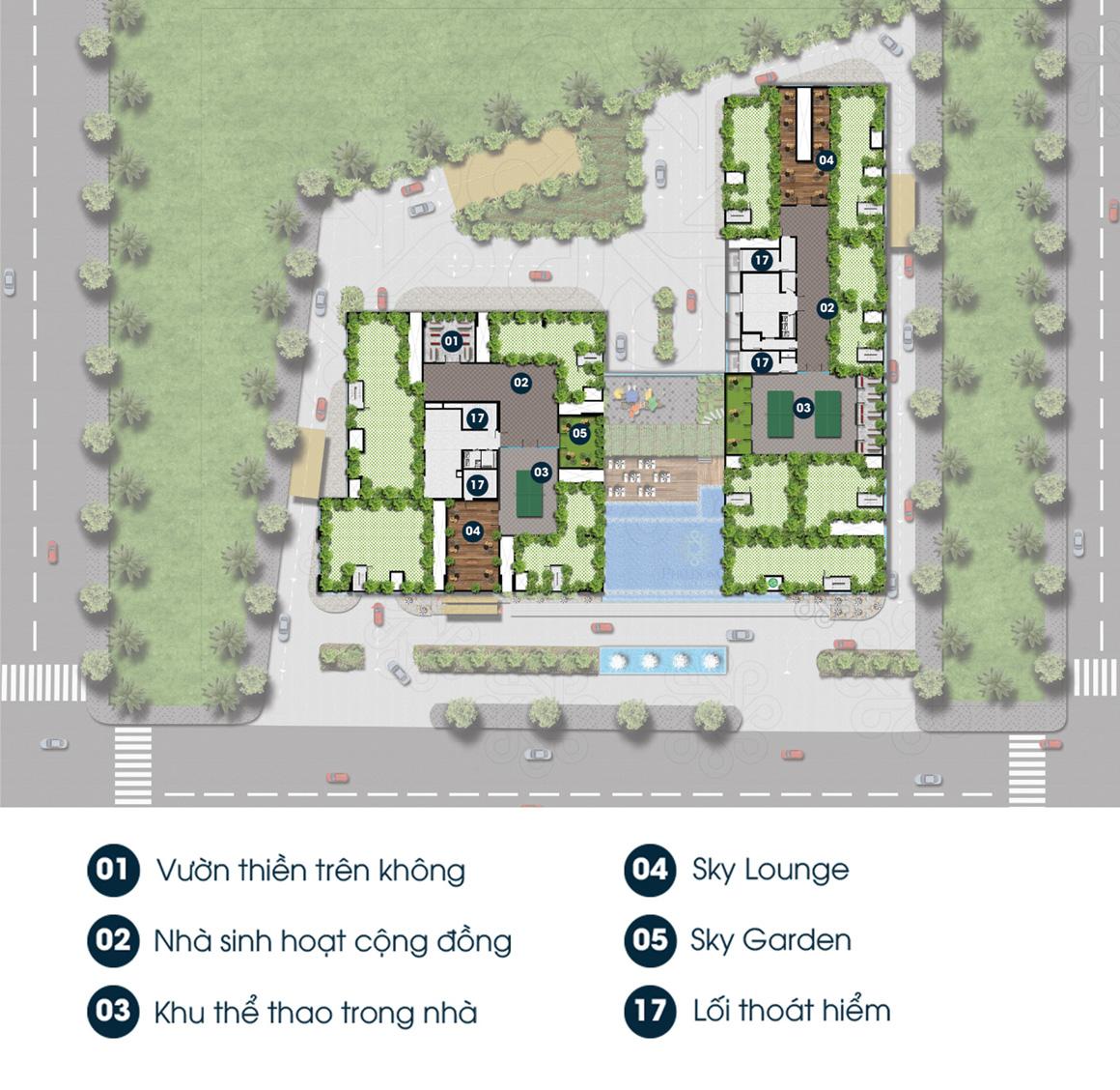 Tiện ích Sân Thượng dự án Phú Đông Premier