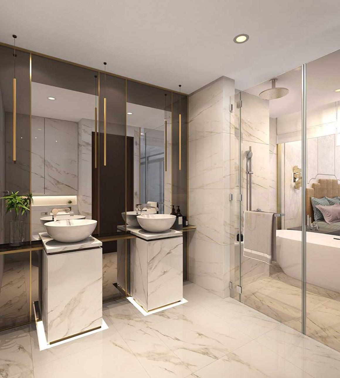 toilet căn hộ dự án Celesta Rise nhà bè