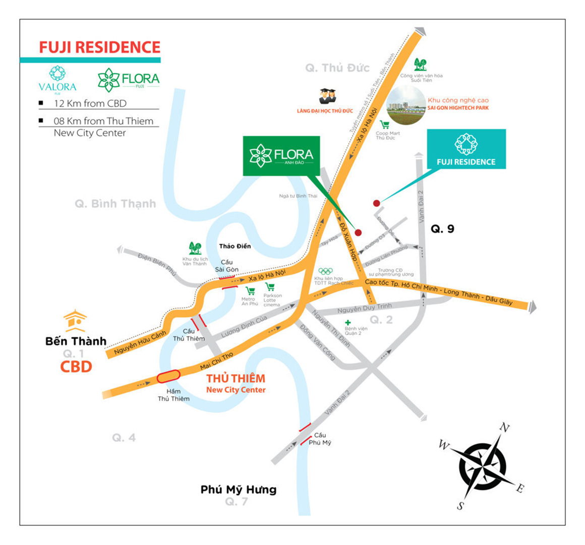 Vị trí dự án Flora Fuji