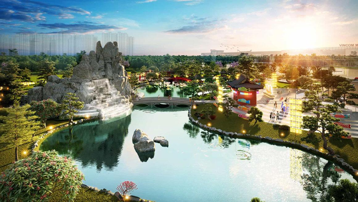 Công Viên của phân khu The Origami dự án Vinhomes Grand Park 1