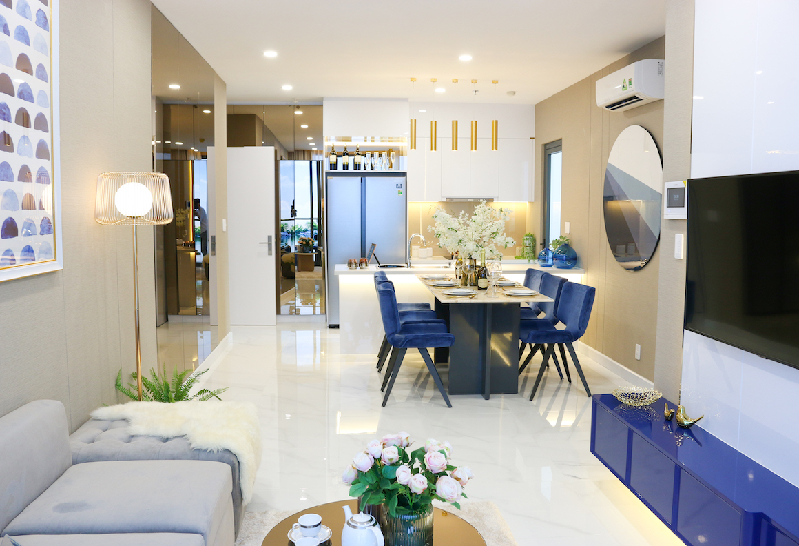 Hình ảnh nhà mẫu dự án căn hộ D'lusso Quận 2