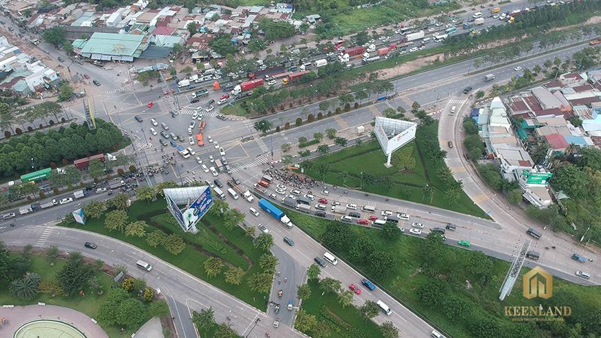 Thực tế nút giao thông An phú nhìn từ trên cao