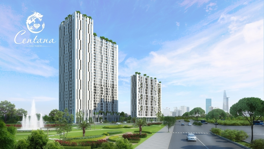Phối cảnh tổng thể dự án căn hộ Centana Thủ Thiêm