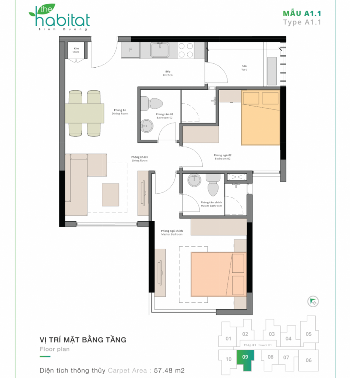 Thiết kế dự án The Habitat Mẫu A1.1