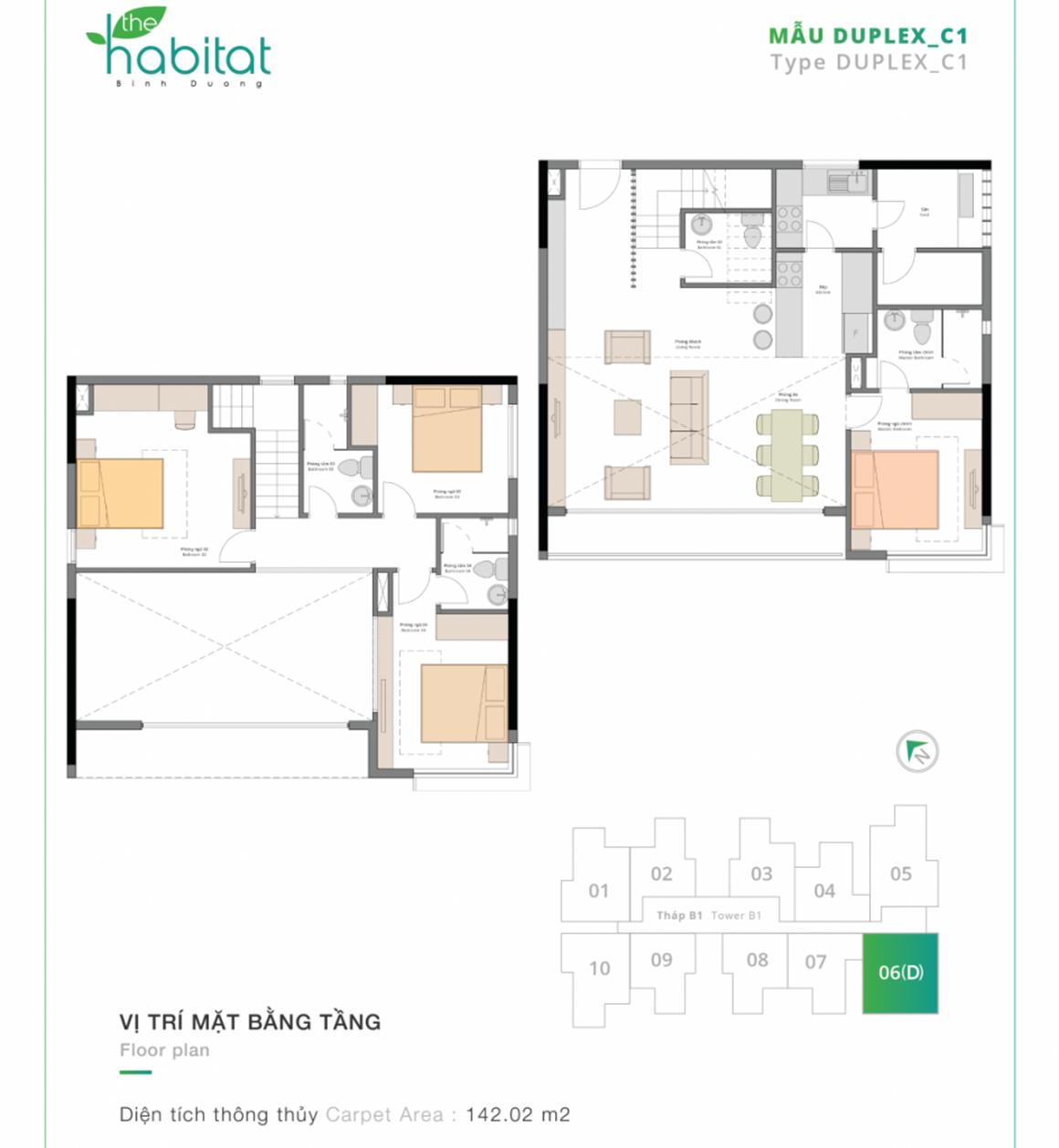 Thiết kế dự án The Habitat Mẫu DUPLEX_C1