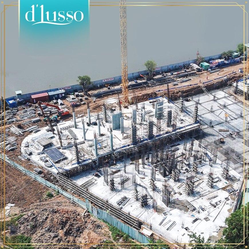 Tiến độ xây dựng dự án căn hộ d'lusso emerald Quận 2 tháng 05/2020