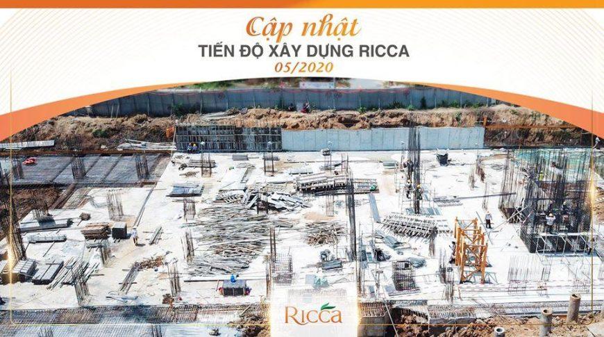 Tiến độ xây dựng căn hộ Ricca Quận 9 cập nhật tháng 05/2020