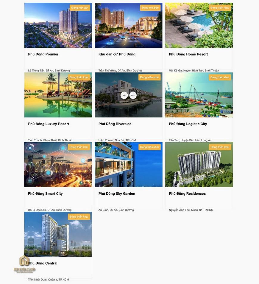 Dự án của Chủ đầu tư Phú Đông Sky Garden