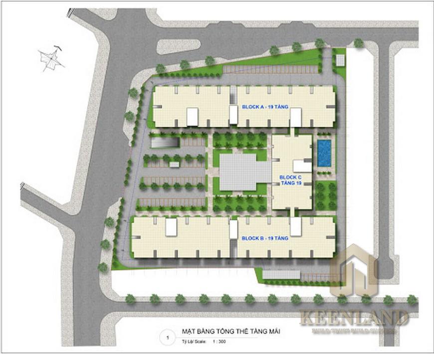 Mặt bằng dự án căn hộ chung cư River Park Tower Quận 9 Đường Bưng Ông Thoàn chủ đầu tư EximLand