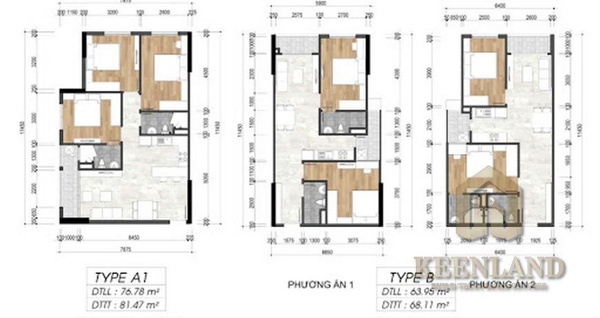 Mặt bằng thiết kế chung cư River Park Tower Quận 9 Đường Bưng Ông Thoàn chủ đầu tư EximLand