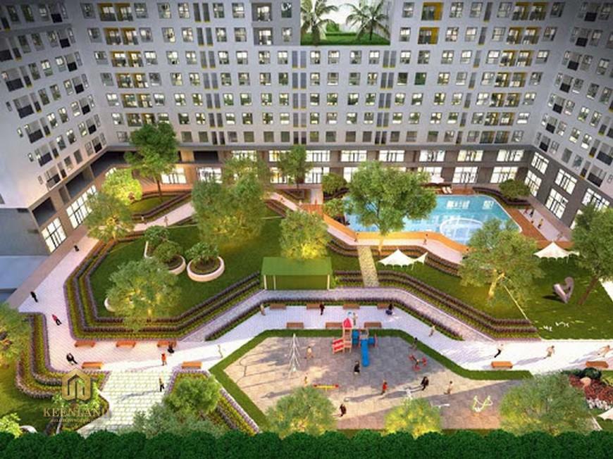 Tiện ích Bcons Garden không gian xanh