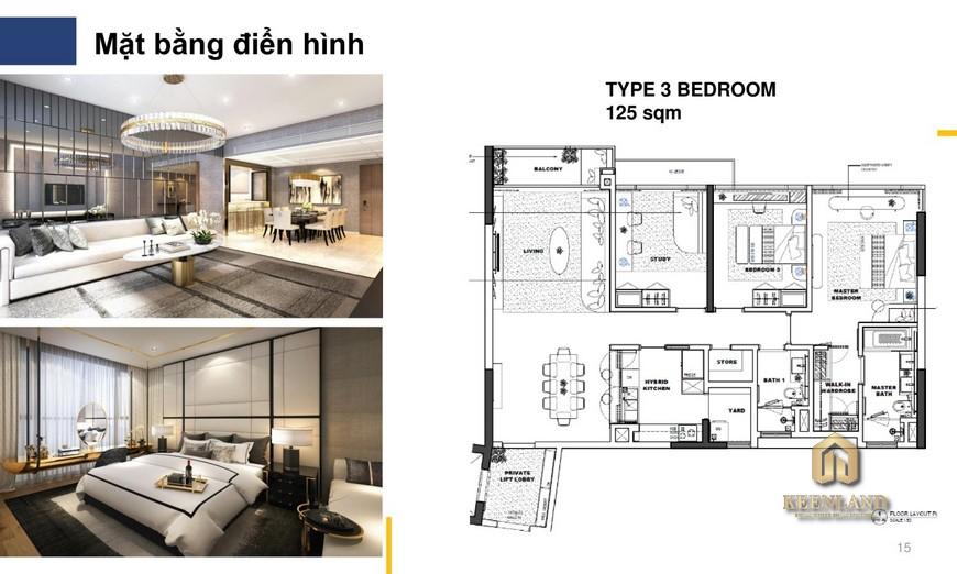 Nhà mẫu The River Thủ Thiêm quận 2 - căn hộ 3 phòng ngủ