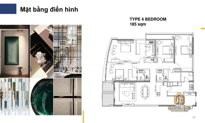 Nhà mẫu The River Thủ Thiêm quận 2 - căn hộ 4 phòng ngủ
