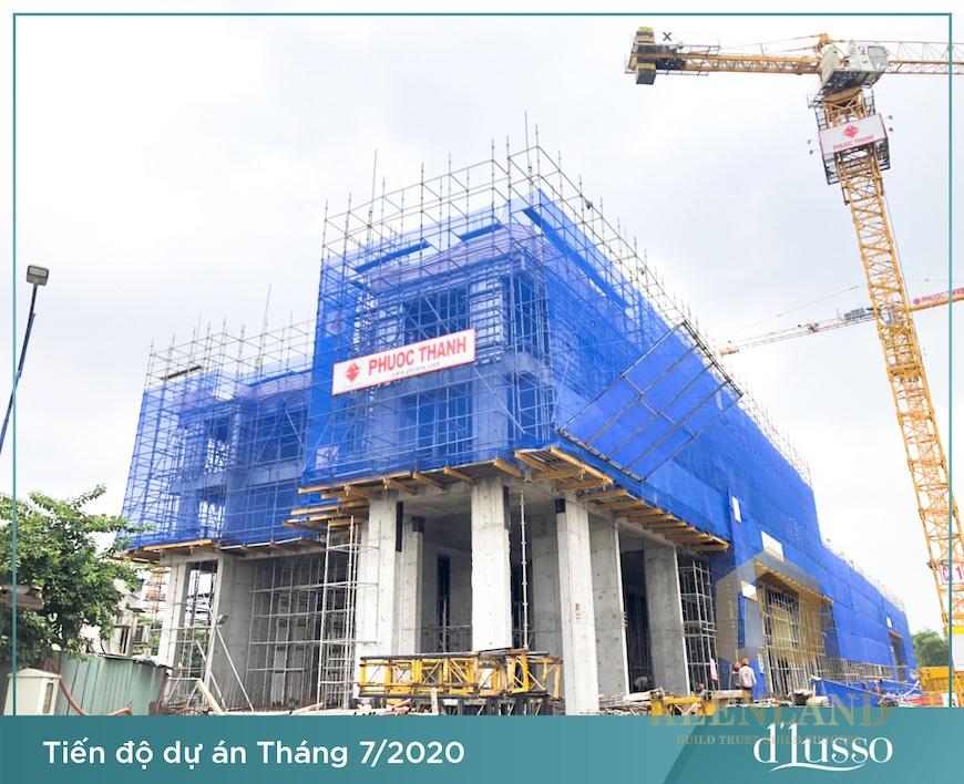 Tiến độ xây dựng dự án Precia Quận 2 tháng 07/2020