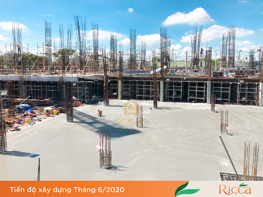 Tiến độ xây dựng dự án Ricca Quận 9 tháng 06 năm 2020