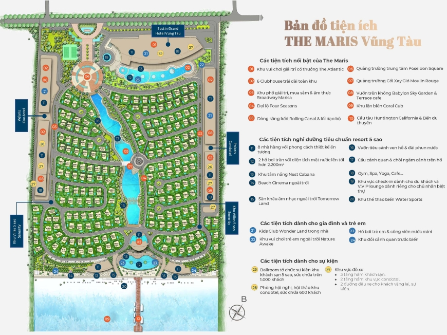 tiện ích nổi bật của dự án căn hộ condotel biệt thự The Maris Vũng Tàu 00
