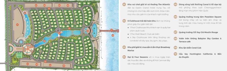 tiện ích nổi bật của dự án căn hộ condotel biệt thự The Maris Vũng Tàu 01
