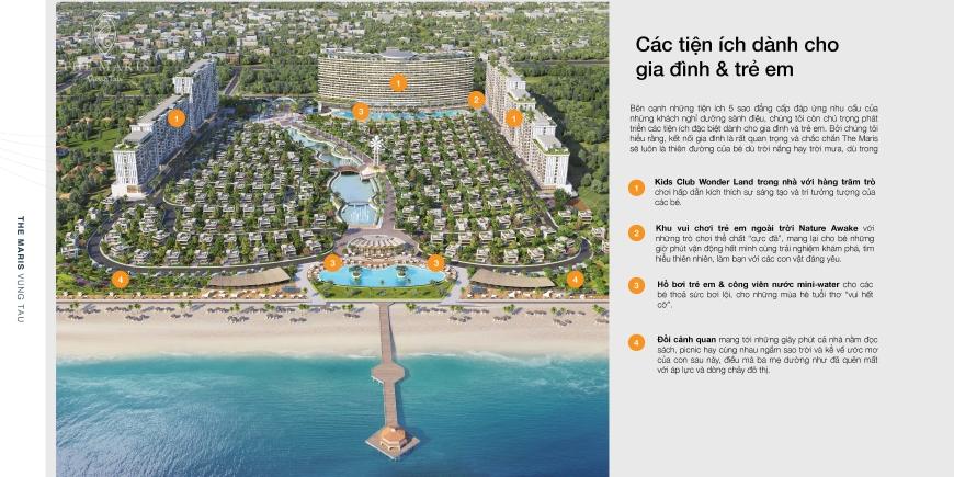 tiện ích nổi bật của dự án căn hộ condotel biệt thự The Maris Vũng Tàu 02