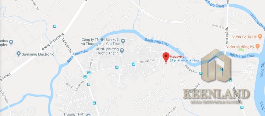 Vị trí địa chỉ dự án căn hộ chung cư Hausnima Quận 9 Đường Lò Lu chủ đầu tư Ez Land