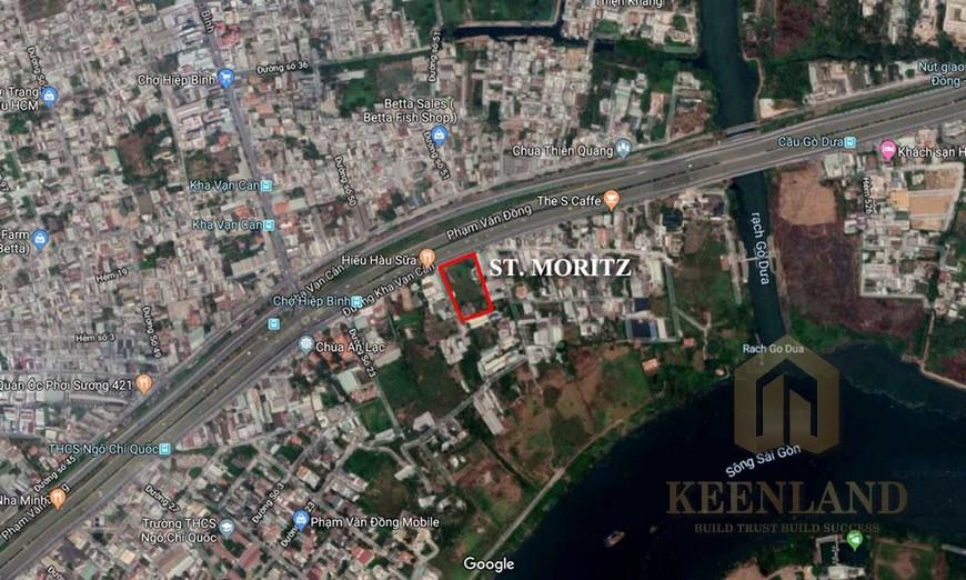 Vị trí địa chỉ St Moritz Quận Thủ Đức Đường Phạm Văn Đồng chủ đầu tư Đất Xanh Group