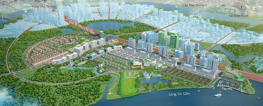 Tổng thể quy hoạch khu Đô Thị Sala