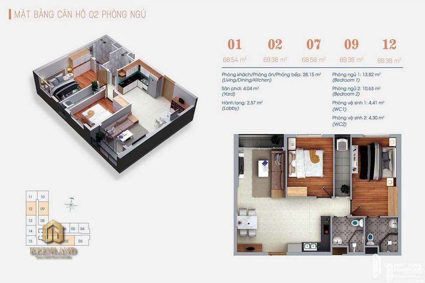 Thiết kế căn hộ PN dự án Green Square