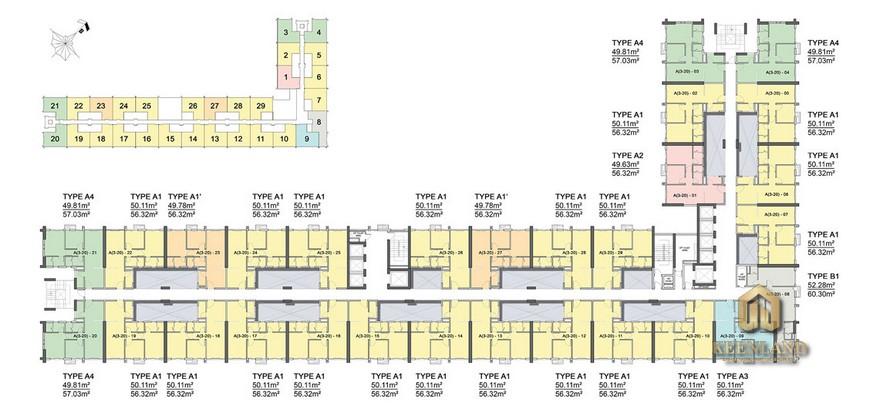 Tìm hiểu mặt bằng thiết kế Citi Grand 3 phòng ngủ